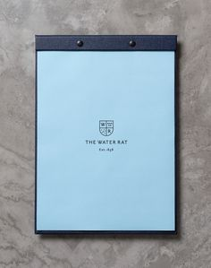 The Water Rat by Hofstede #menu #branding