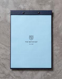 The Water Rat by Hofstede #menu #branding