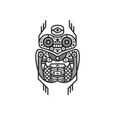 Black & white totem series. http://society6.com/MuratSunger #shop #print #art #illustration