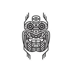Black & white totem series. http://society6.com/MuratSunger #shop #print #art #illustration