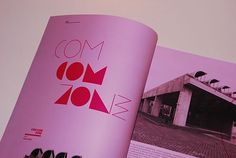 FFFFOUND! | A | architecture magazine layout :: Typography Served #pink #thinthink #letters