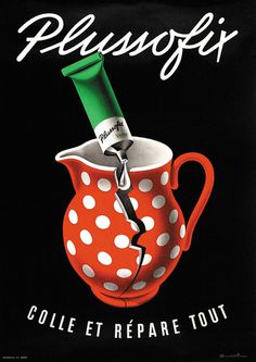 Brun Donald Plussofix #illustration #vintage #poster #advertising