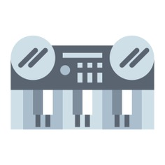 See more icon inspiration related to keyboard, electric keyboard, music and multimedia, electric piano, music instruments, music instrument, keyboards, electric, musical instrument, entertainment, piano, electronics and music on Flaticon.