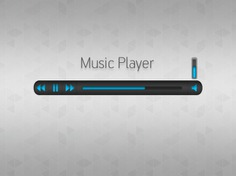 Simple music player with blue buttons Free Psd. See more inspiration related to Music, Blue, Buttons, Gray, Psd, Simple, Player and Horizontal on Freepik.