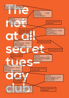 The not at all secret tuesday club, poster submitted and designed by Rick Raby (2013)