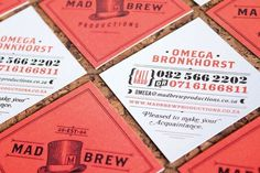 design work life » Adam Hill: Mad Brew #stationary #illustration #identity #vintage #typography