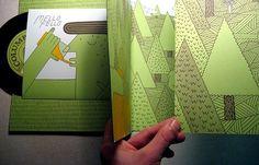 Andrew Neyer and Luke Ramsey / Record Zine #luke #neyer #cover #record #illustration #music #ramsey #andrew