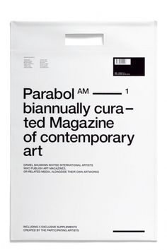 Parabol #simple #modern #typography