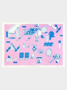 How the objects said on Behance #illustration