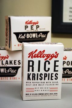 kelloggs rice krispies old box #rice #packaging #box #kelloggs #vintage #cereal #krispies