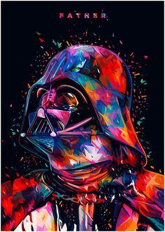 Star Wars Tribute: F A T H E R – Darth Vader portrait