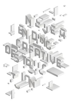 Creative Review — Typographic illustration by SAWDUST #design #graphic #craftsmanship #quality #typography