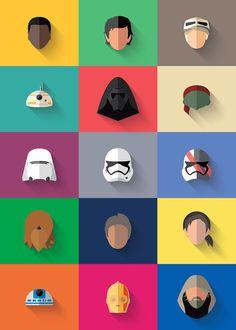 15 free icons Star Wars: The force awakening
