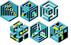 grain edit · Carl DeTorres #carl #isometric #grid #detorres #hexagon #cube