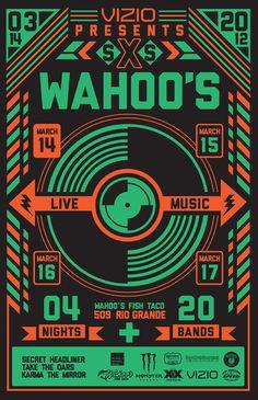 Wahoo's SXSWahoos poster