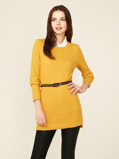 Marc by Marc Jacobs Tilda Ribbed Long Tunic #fashion #marc #jacobs #yellow