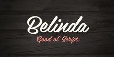 Belinda - Webfont & Desktop font « MyFonts #type #vintage #belinda