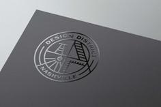 Nashville Design District Logo. #logo #badgelogo #roundlogo #branding #Design #logodesign
