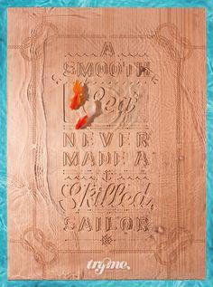 "\""A smooth sea never made a skilled sailor\"""