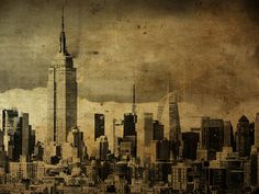 Manhattan Wood SkyLine #empire #manhattan #photography #art #york #new