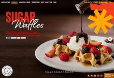 Maxbrenner #food #web design #parallax #one page
