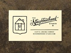 Dribbble - Business Cards by Curtis Jinkins #branding #jinkins #icon #neighborhood #design #curtis #identity #studio #logo