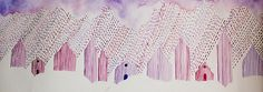 Watercolors on the Behance Network #watercolor #rain #purple