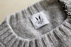 Croft Knitwear #labels #clothes #packaging #print #fashion