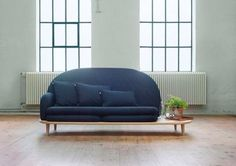 This modular sofa is rearrangeable, depending on whether you need a side table or foot stool.