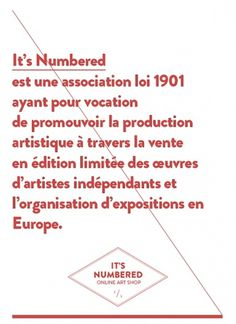 It's Numbered - Le journal #posters