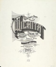 Sanborn Map Company title pages / Sanborn Insurance map - Kansas - WICHITA - 1914 #typography #lettering 100% 5500 × 6500 pixels The Typography of Sa