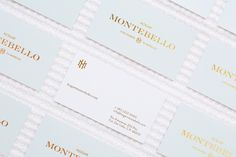 Hogar Montebello branding business card corporate design san pedro mexico mindpsarkle mag gold emboss print embossing printing pastel colors