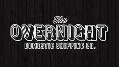 Overnight Shipping Co. | BrandPress Co. #wood #identity #branding #texture