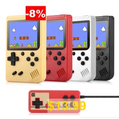Ragebee #500 #in #1 #3.0 #Inch #TFT #Display #2 #Player #Handheld #Game #Console #with #Gamepad #- #WHITE