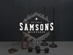 Samsons on Behance #sun #gym #melbourne #fitness #logo