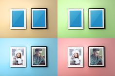 Colourful Photo Frame PSD Mockup