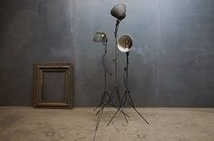 FFFFOUND! | 1930s Movie Set Tripods Floor Lamps : Factory 20 #interior #lamp #design #light