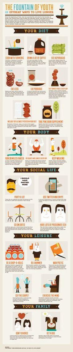 22 ways to live longer #live #longer #infographic #health