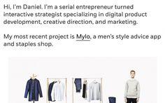 Daniel Eckler portfolio webdesign website inspiration beautiful minimal design inspiration designblog graphic web modern clean simple type t