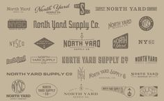 Visualgraphc #north #logos #lockup #yard #typography