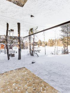 uufie reinterpret tree house in canadian lake cottage #house