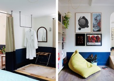 Each room is full of thoughtful touches, including a beanbag for lounging.