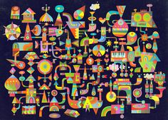 2012 : The World of C86 | Matt Lyon #illustration #color #shapes