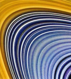 Saturn ring, False-color image #saturn #planet #voyager