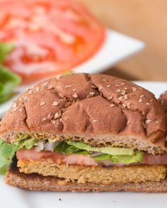 Carrot & Chickpea Veggie Burger