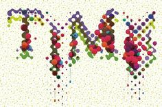 Balla Dora Typo-Grafika: TIME - FEED #design #dots #illustration #colour #typography