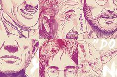 Inspiration Heroes #yoda #wars #quotes #illustration #einstein #star #purple