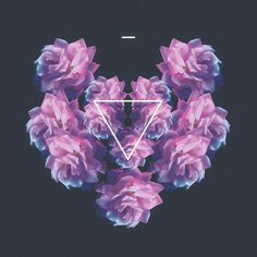 the love club. #album #design #graphic #triangle #art #collage #flowers