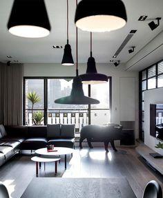 Dark and Moody Apartment Interior asian minimalism interior decor