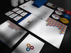 Seminarios Andinos Identity System on the Behance Network #stationary #logo #corporat #branding